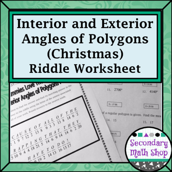 Polygons -  Interior and Exterior Angles of Polygons Chris