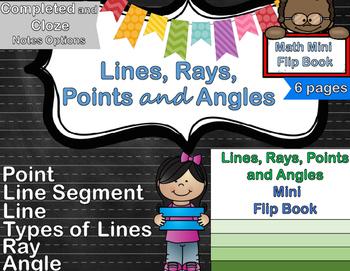Geometry - Lines Foldable & Mini Flip Book (Ray, Angle, Se