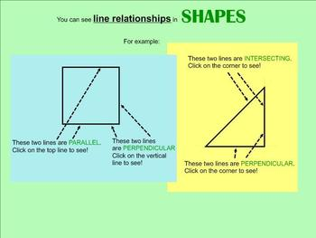 Geometry Lines SMART board Interactive Lesson - Tons of Ac