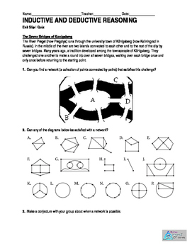 Geometry- Inductive and Deductive Reasoning- Exit Ticket,