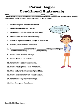 Worksheets Conditional Statements Worksheet geometry logic with conditional statements by converse inv