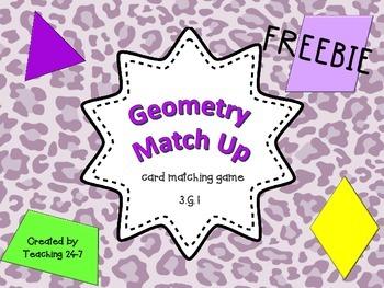 Geometry Match Up (Freebie)