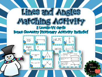 Geometry Matching Activity (Lines and Angles)