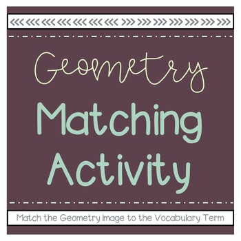 Geometry Matching Review Activity