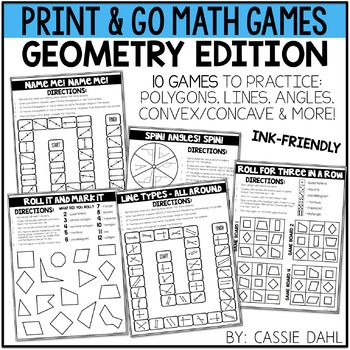 Geometry Math Games (Print & Go)