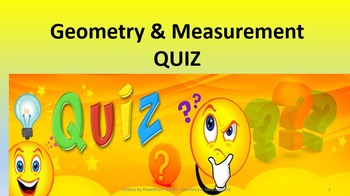 Geometry & Measurement Quiz Game PowerPoint