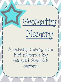 Geometry Memory Game- Awesome Center!
