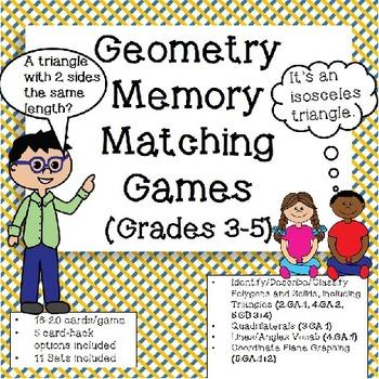 Geometry Games - Memory Matching (Grade 3-5)