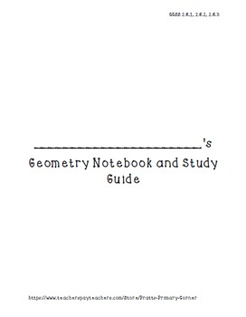 Geometry Notebook- Envision Math Series (FREEBIE)