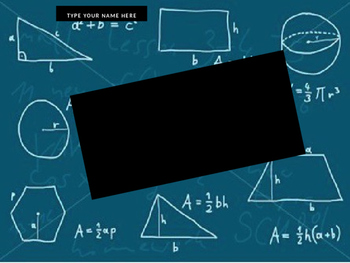 Geometry Notebook PowerPoint Template