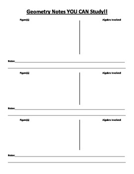 Geometry Notes Template
