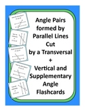 Geometry: Parallel Lines Cut by a Transversal Flashcards