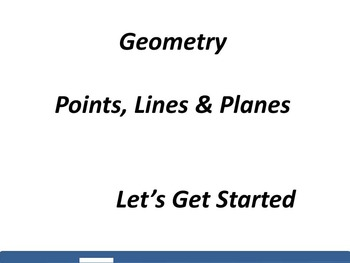 Geometry: Points, Lines and Planes
