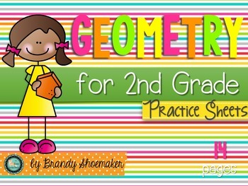 Geometry Practice Sheets: Shapes, Partitioning Shapes, and