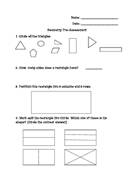 Geometry Pre-Assessment