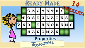 Geometry Properties Hangman Powerpoint Game