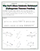 Right Triangles - Pythagorean Theorem Christmas Riddle Pra