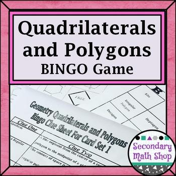 Quadrilaterals - Polygons BINGO Game!!