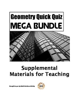 Geometry Quick Quiz MEGA BUNDLE