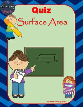 Geometry Quiz: Surface Area
