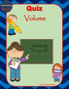 Geometry Quiz: Volume