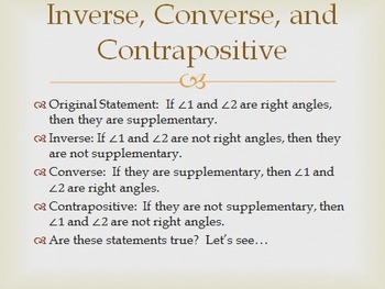 Geometry PowerPoint - Reasoning and Proof (Chapter 2)