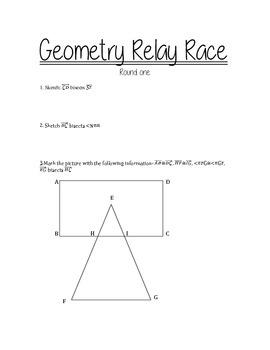 Geometry Relay Race