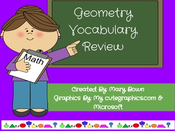 Geometry Review Packet (Student sheets, Who has.., and stu