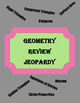 Geometry SOL Review Jeopardy