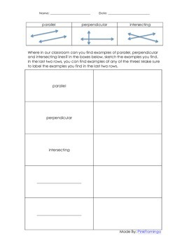 Geometry Scavenger Hunt - Parallel, Perpendicular and Inte
