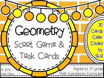Geometry Scoot Game and Task Cards: 3rd Grade