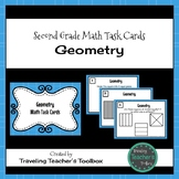 Geometry - Second Grade Math Task Cards
