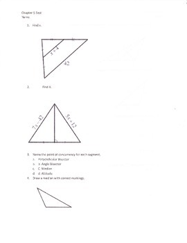 Geometry Segments in a Triangle Test