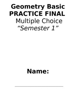 Geometry Semester Review Multiple Choice