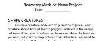 Geometry Shape Creature Math Project