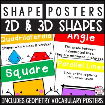 2D and 3D Shape and Vocabulary Posters