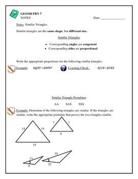 Geometry - Simlar Triangles, Postulates, Solving