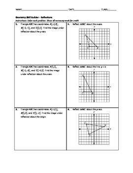 Geometry Skill Builder - Reflections