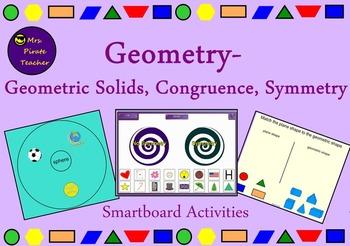 Geometric Solids, Congruence, Symmetry (Smartboard)