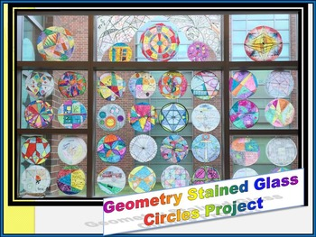 """Geometry """"Stained Glass"""" Circle Properties Project"""