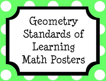 Geometry Standards of Learning (SOL) Math Posters