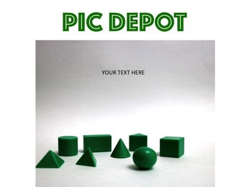Geometry Stock Photo Green 3D Shapes