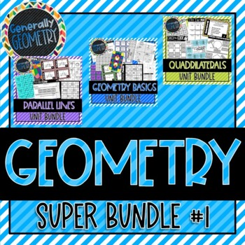 Geometry Super Bundle! Lines & Angles, Parallel Lines, Pol