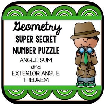 Geometry Super Secret Number Puzzle Triangle Sum and Exter