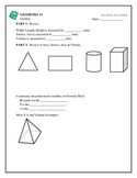Geometry - Surface Area & Volume