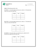 Geometry - Surface Area and Volume Ratios
