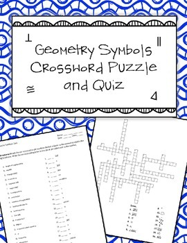 Geometry Symbols Quiz and Crosswords Puzzle by Ayers' Math Flairs ...