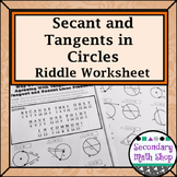 Circles - Geometry Tangent and Secant Lines in Circles Rid