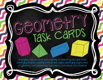 Geometry Terms Task Cards