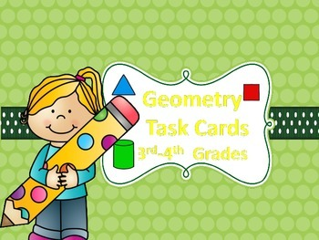 Geometry Task Cards {Angles, Lines, 2D, and 3D Shapes}3rd-